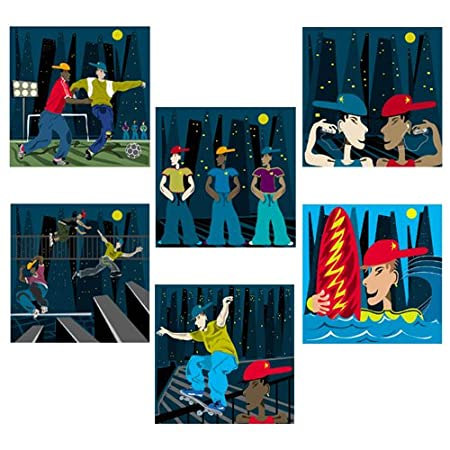Birthday Cards For Teenage Boys Pack Of Six Top Quality