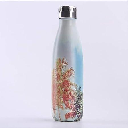 ZHONGYI666 Botella De Agua Aislada Al Vacío De Acero Inoxidable,Home Botella De Respetuosa con El Medio Ambiente con Aislamiento Al Vacío Doble Pared,para Deportes Al Aire Libre, Camping: Amazon.es: Hogar