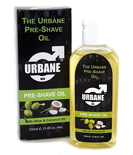 Urbane Men Pre-Shave Oil for Manual & Electric 100ml, 100% Alcohol Free formula (Olive & Coconut Oil)
