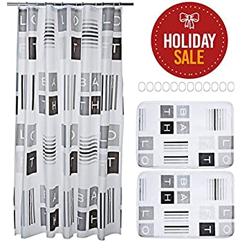 15 Piece Bathroom Set. Includes Shower Curtain Liner, Bathroom Rugs And  Rings