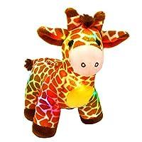 Bstaofy LED Giraffe Stuffed Animal Plush Light Up Jungle Pal Toy Glow in Dark Luminous Birthday Christmas Festival Gift for Kids Friends, 12.5