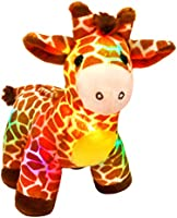 Bstaofy LED Giraffe Stuffed Animal Plush Light Up Jungle Pal Toy Glow in Dark Luminous Birthday Christmas Festival Gift...