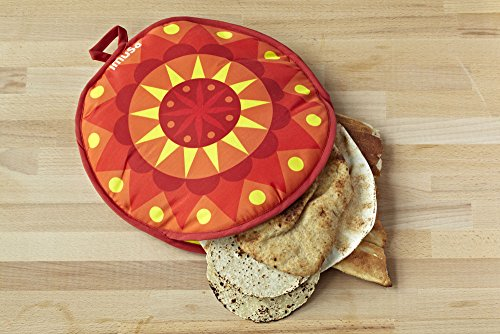 IMUSA USA MEXI-10007 Sunburst Cloth Tortilla Warmer 12-Inch, Yellow/Red/Orange