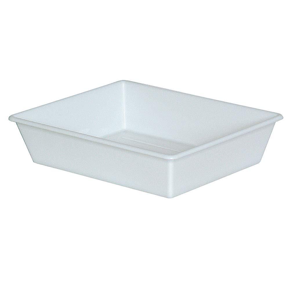 Lebensmittelechte Kunststoffwanne 12,4 Liter LxBxH 625//525x525//430x140 mm,weiß