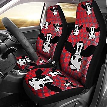 Brilliant Amazon Com Cow Print Car Seat Covers Universal Fit Baby Frankydiablos Diy Chair Ideas Frankydiabloscom