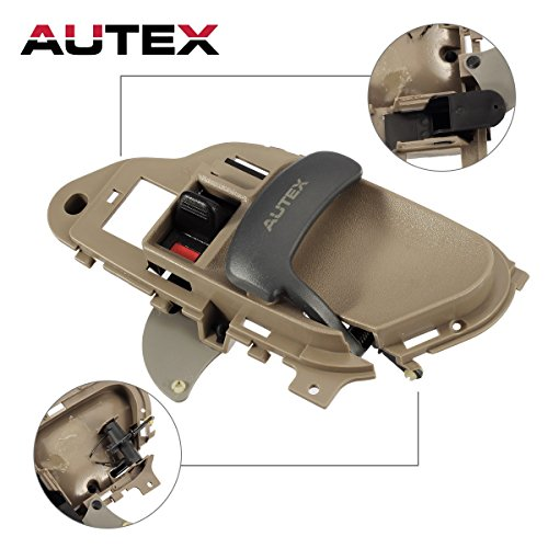 AUTEX 77571 Beige Interior Door Handle Front/Rear Right Passenger Side compatible with 1995 1996 1997 1998 1999 2000 Chevrolet GMC C/K 1500 2500 3500 Pickup Suburban Chevy Tahoe GMC Yukon 15708052 (Front K2500 Handle Suburban Door)
