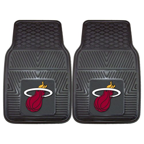 Fanmats 9318 NBA-Miami Heat Vinyl Universal Heavy Duty Fan Floor Mat - Miami Heat Floor