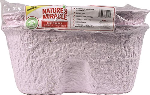 (Nature's Miracle Disposable Litter Box, Jumbo, 2-Pack - P-82029)