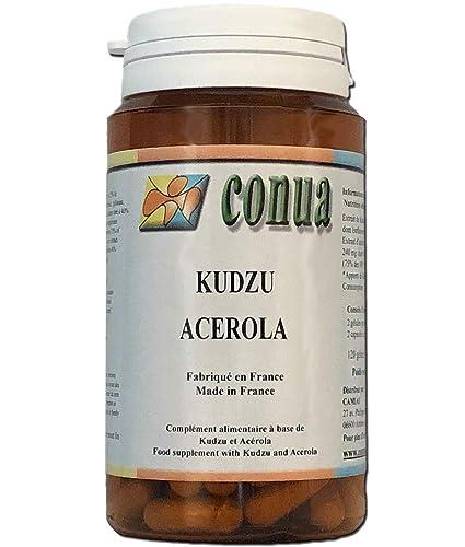 Kudzu raiz (root) + Acerola vitamina C 120 cápsulas BOTELLA POR 2 MESES 60