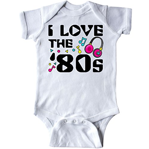 inktastic - I Love The '80s-Musical Notes Infant Creeper 12 Months White (Old School Baby Clothes)