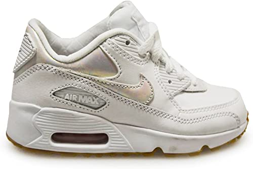 super cheap arriving exclusive range Amazon.com | Nike Kids Air Max 90 LTR SE GP White | Sneakers