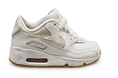 wholesale dealer ff4ce 21868 Image Unavailable. Image not available for. Color  Nike Kids Air Max 90 LTR  SE GP White