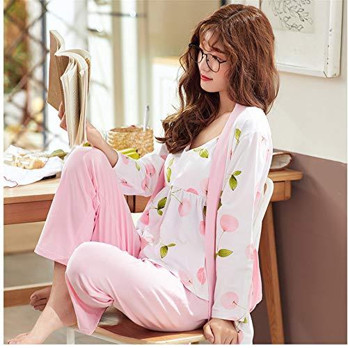 Pant Breve Sexy Set Long Set Pajama Pezzi Pigiama Autunno Petto Photo 3 Meaeo Donna 2018 Robe Cotone In Con Sexy Color Inverno Women EqtOUTwx