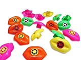 Toy Lip Whistles - 48 Pack - Fun Gift, Reward, Prize or Party Favor for Birthday Parties and Goody Bags - Assorted Colors - By Dazzling Toys