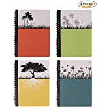 Hardcover Spiral Notebook, Dream Tree Journal to Write in, Blank Diary, Composition Notebook College ruled 80 Sheets, 5.5 x 8.3inch, 4 Pack