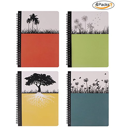 (Hardcover Spiral Notebook, Dream Tree Journal to Write in, Blank Diary, Composition Notebook College ruled 80 Sheets, 5.5 x 8.3inch, 4 Pack)