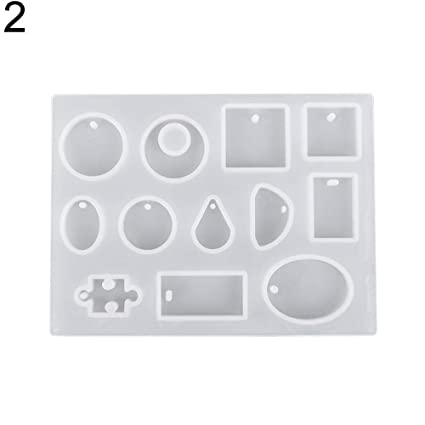 Silicone Earring Necklace Pendant Mold for DIY Epoxy Resin Jewelry Making ToolQY
