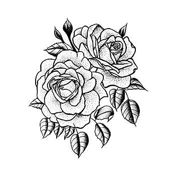 Amazoncom Tattify Traditional Flower Temporary Tattoo Twin Rose
