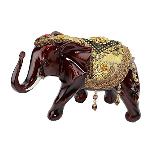 Feng Shui 7.5 h Red Gold Elephant Wealth Lucky Figurine Home Decor Housewarming Gift Us Seller
