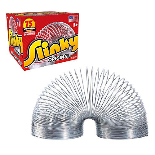 The Original Slinky Walking Spring Toy, Metal Slinky, Fidget Toys, Party Favors and Gifts, Toys for 5 Year Old Girls and…