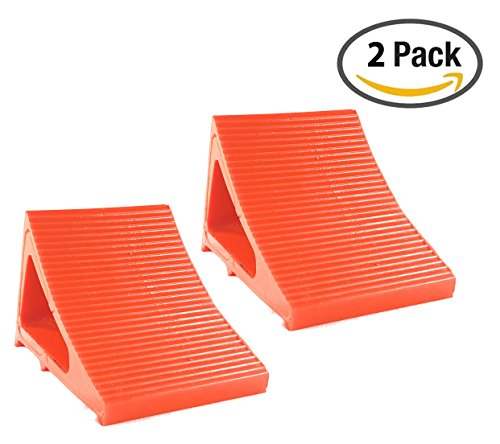 Elasco Wheel Chock, Weatherproof, Outdoor Grade, Polyurethane better than Rubber or Plastic, Keeps Your Trailer or RV In Place, 5 Year Warranty (2 Pack, Orange) by Elasco Products (Image #10)