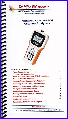 Rig Expert Antenna Analyzer Mini-Manual by Nifty Accessories