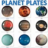 trshops Planet Plates of Solar System Dinnerware Set (Pluto Added-9 Planet Plates)