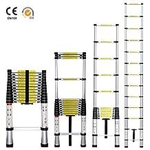 Acehelper ® 12.5 FT Portable Aluminum Telescoping Extension Ladder