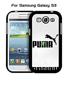 Galaxy S3 Funda Case Brand Logo Puma Plastic Anti Scratch Vintage Drop Proof Customized Compatible with Samsung Galaxy S3 i9300