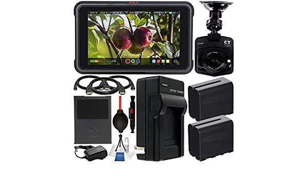 Standard Mini /& Micro HDMI Cables Atomos Shinobi 5.2 4K HDMI Monitor with Starter Accessory Bundle Includes: 2X Extended Life NP-F975 L-Series Batteries with Charger Starter Cleaning Kit /& More