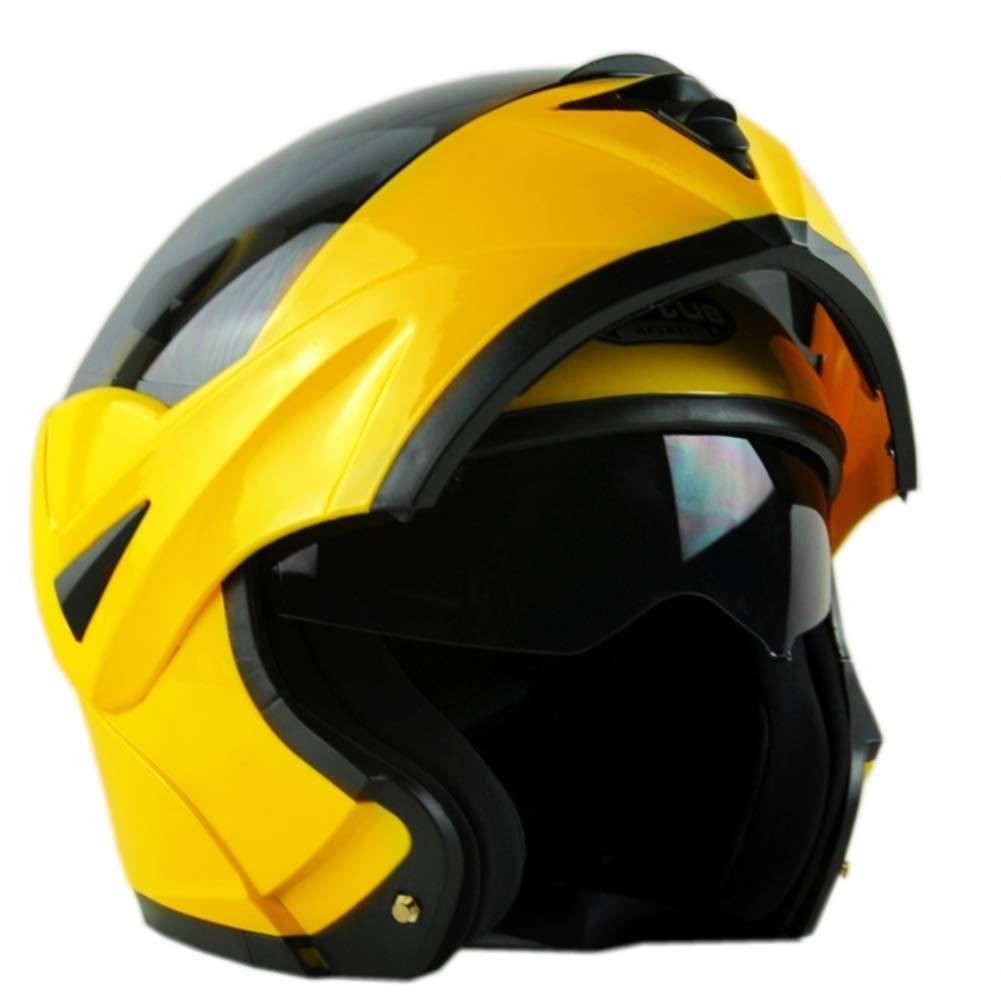 YXDDGt Motorradhelm Flip up dual visiere Full Face Helm,Unisex-F M