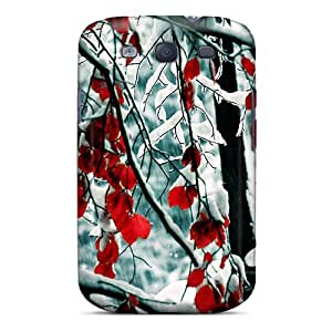Faddish Phone Snow Leaves Case For Galaxy S3 / Perfect Case Cover