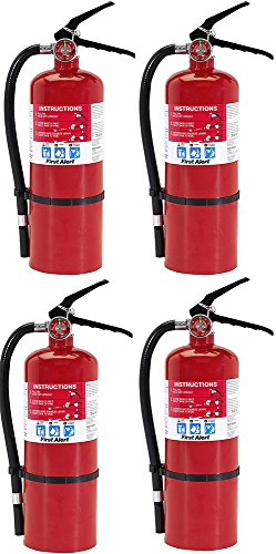 First Alert HOPvnz FE3A40GR Heavy Duty Plus Fire Extinguisher Red, 4 Units by First Alert (Image #1)