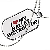 Dogtag I heart love my Ballet Instructor Dog tags necklace - Neonblond