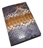 Baglioni Italia Genuine Python Snakeskin Address & Memo Book Blue Multi