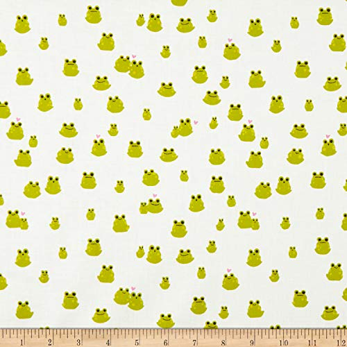 - Cotton + Steel Front Yard Frogs Fabric, Green, Fabric By The Yard