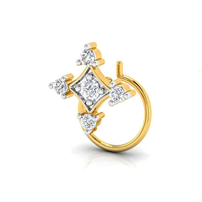 80a80f1e515f3 Buy Pristine Fire 9KT Geometric Shaped Yellow Gold and Diamond Nose ...