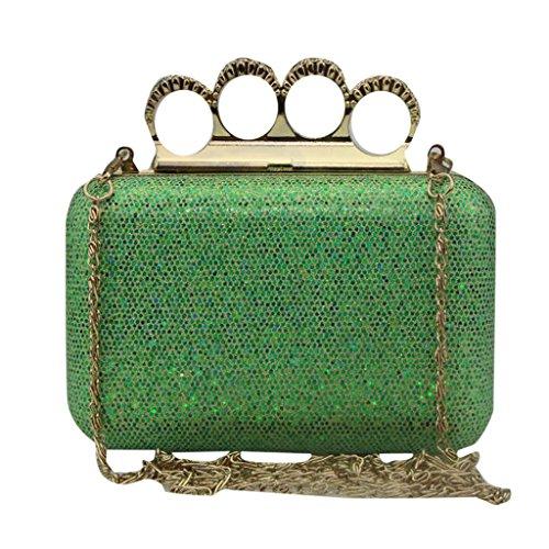 MNBS - Cartera de mano para mujer talla única verde