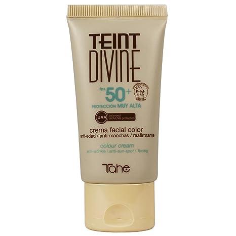 Tahe Teint Divine Crema Facial con Color y Protección Solar Muy Alta F.P.S 50+,