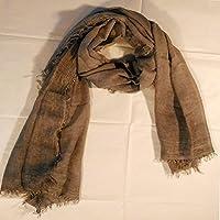 Elena Milani Couture- handmade silkscreen iced coffee scarf