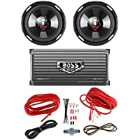 2 BOSS P106DVC 10 4200W Car Subwoofers Subs + 1600W 2-Ch Amp + 8 Gauge Amp Kit