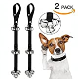 Sunny spring breeze 2 PACK Dog Doorbells Dog Bells for Potty Training Adjustable Puppies Door Bell for Housetraining and Housebreaking Train (silvery)