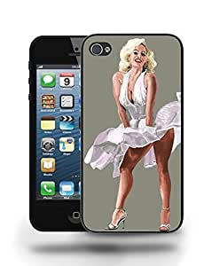 Movie Vintage Film Star Actress Marilyn Monroe Sketch Art Phone Case Cover Designs for iPhone 4 4S