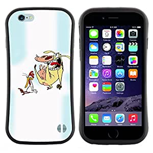 Apple (4.7 inches!!!) iPhone 6 , Radio-Star - Slim Fit Dual Barniz Protector Caso Case Funda ( Cartoon Characters Chicken Cow Animals Art)