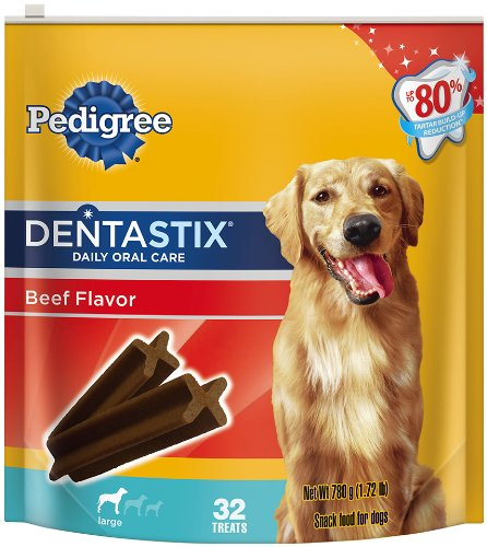 Pedigree Dentastix Beef Pouches, Large, 32 Count, My Pet Supplies