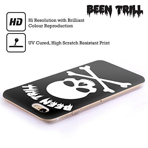Official Been Trill White Cross Skeleton Skulls Soft Gel Case for Apple iPhone 5 / 5s / SE