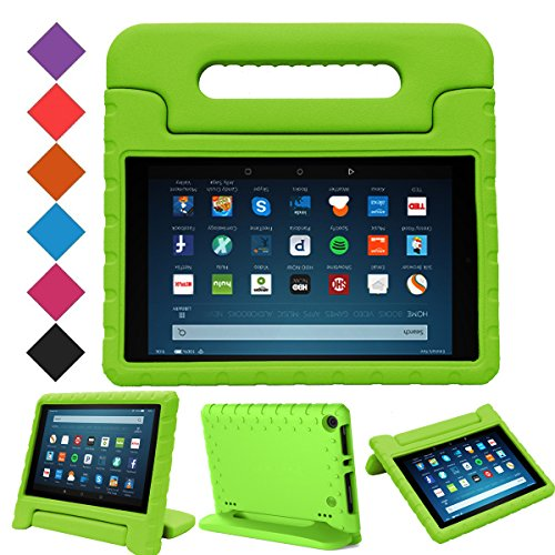 BMOUO Case for All-New Fire HD 8 2017/2018 - Light Weight Shock Proof Convertible Handle Kid-Proof Cover Kids Case for All-New Fire HD 8 Tablet (7th and 8th Generation, 2017 and 2018 Release), Green