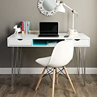 48-inch Color Accent Desk - Aqua Blue