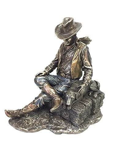 Statue Sculpture Dog - Cowboy and Dog Napping Statue Sculpture