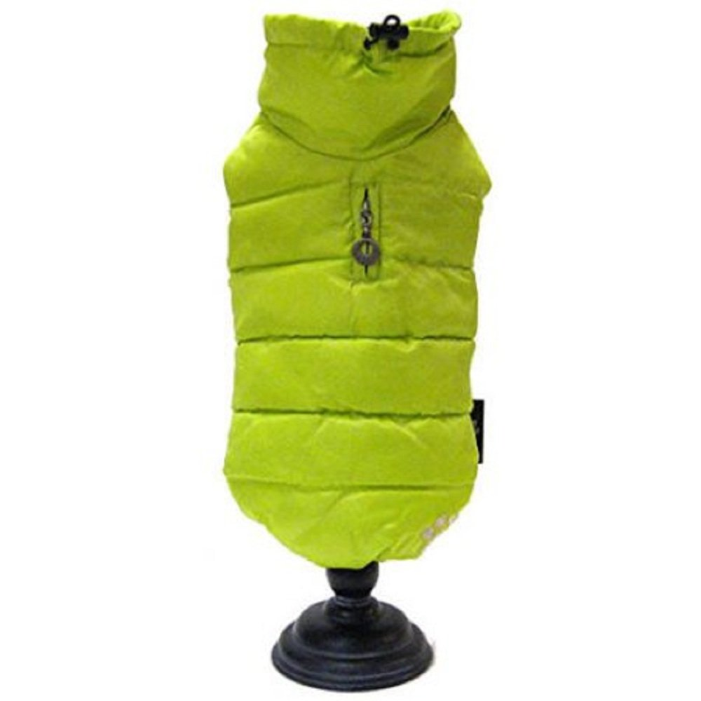 Alpha Dog Series Puffy Parka Vest Neon Yellow